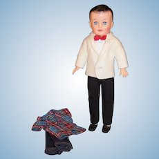 Vogue Jeff Doll; Tuxedo (Shirt, Pants, Jacket , Cummerbund, & Bow Tie),  Jeans & Shirt Outfit, Shoes