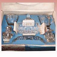 Early American Prescut (Star of David) 7 Piece Table Service Set