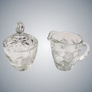 Early American Prescut (Star of David) Creamer & Sugar