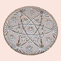 "13 1/2"" Large Early American Prescut (Star of David) Serving Platter"