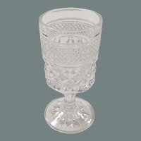 """Set of 8: Crystal Clear Wexford Stemmed Wine or Juice Goblets (5 3/8"""" tall)"""