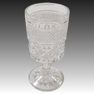 "Set of 8: Crystal Clear Wexford Stemmed Wine or Juice Goblets (5 3/8"" tall)"