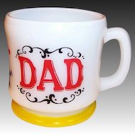 Hazel Atlas Gay 90's DAD Coffee Mug