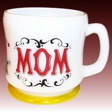 Hazel Atlas Gay 90's MOM Coffee Mug
