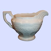 1930's Edwin Knowles' Fashion Shape Creamer in Hard to Find Solid White