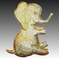 Adopt this Large Playful & Fun Elephant (Signed J.Freides)