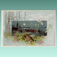 Antique Woolson Spice Co.  Advertising Easter Card