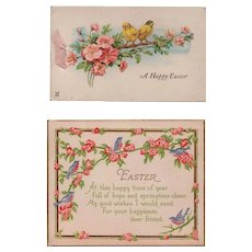 Two Vintage Easter Greeting Cards