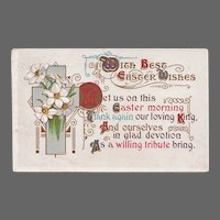 Antique 1913 Christian Easter Poem Postcard