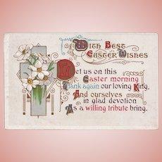 Antique 1913 Christian Easter Poem Postcard