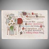 Antique Easter Poem Postcard