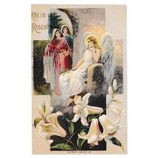 "Antique C. 1910  J. Baumann ""He is Risen""  Easter Postcard"
