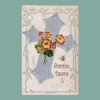 Antique Easter Passion Cross Souvenir Postcard