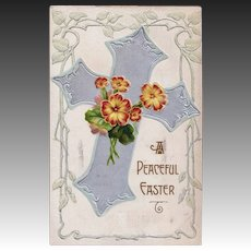 Antique Easter Passion Cross Souvenir Postcard