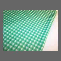 """2 1/4 Yards x 60"""" ~ 1960's - 70's Vintage Polyester Checked Fabric"""