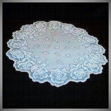 "Blue Roses 16"" Round Hankie"