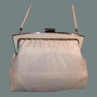 1960's - 1970's Ivory Mesh Purse Australia by Glomesh