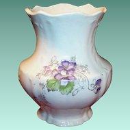 Victorian Columbia Violet Brush Holder or Vase.