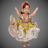 Vintage Sleepy Eyed Costume Doll