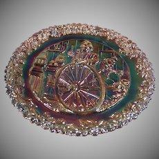 "Fenton Carnival Glass ""Craftsman in America Series"" No. 9: Colonial Wheelwright"