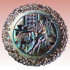 "Fenton Carnival Glass ""Craftsman in America Series"" No. 6 Colonial Silversmith (Paul Revere)"