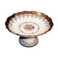 Vintage Royal Bayreuth Gloria Fine Porcelain Compote