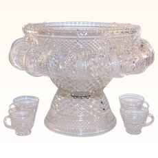 Anchor Hocking Wexford Punch Bowl Set