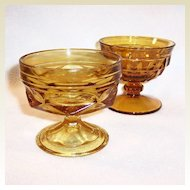 Vintage Amber Glass Sherbets (You Choose)