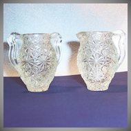 Vintage Daisy & Button Miniature Creamer & Sugar Set