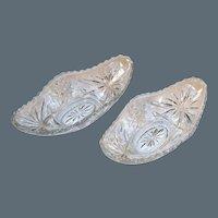 Set of 2: EAPC Star of David Gondola Relish Bowls