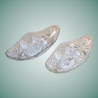 Set of 2: EAPC Star of David Gondola Relish Bowls