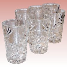EAPC Star of David Set of 6 Juice Tumblers