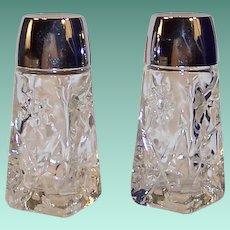 EAPC Star of David Glass Salt and Pepper Shakers