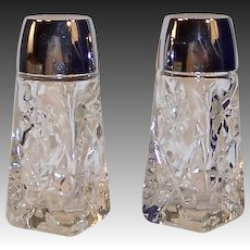 EAPC Star of David Glass Salt and Pepper Shakers