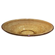 "Amber Madrid Depression Glass: 11"" Low Console Bowl"