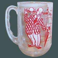 "Hazel Atlas Old Time Song Lyrics Beer Mug; ""How Dry I Am"""