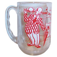 "Hazel Atlas Old Time Song Lyrics Beer Mug; ""How Dry I Am"""