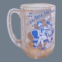 "Hazel Atlas Old Time Song Lyrics Beer Mug; ""You Tell Me Your Dream"""