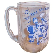 "Hazel Atlas Old Time Song Lyrics Beer Mug; ""You Tell Me Your Dream"""