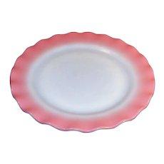 Hazel Atlas Glass Pink Crinoline Dinner Plate