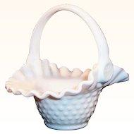 Fenton Milk Glass Hobnail Basket...makes a lovely Easter Basket!