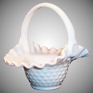 Fenton Milk Glass Hobnail Basket...makes a lovely Easter Basket!