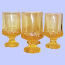 SET of 4: Tiffin Franciscan Madeira Juice / Wine Tumblers