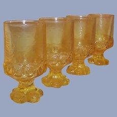 SET of 4: Tiffin Franciscan Madeira Water Goblets