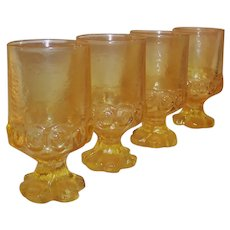 SET of 4: Tiffin Franciscan Madeira Water Goblets