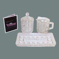Mid-Century Windsor Sugar, Creamer & Tray Set In Original Box