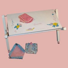 Vintage Strombecker Changing Table / Bathinette for Vogue Doll's Ginnette