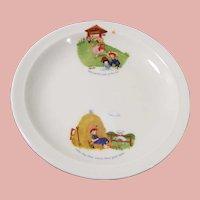 "Bavarian 8"" Child's Nursery Rhyme Plate"