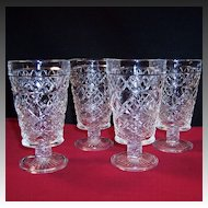 SET of FOUR: Hazel Atlas Gothic Big Top Peanut Butter Tumblers