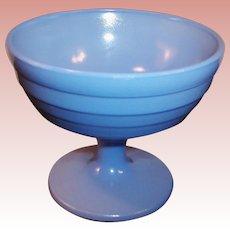 Hazel Atlas Blue Moderntone Sherbet